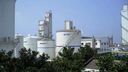 The fifth air-separation facility on the site of the steel manufacturer Xiangtan Steel ensures the abundant availability of atmospheric gases.