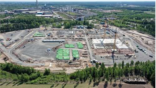 The construction work of BASF's battery materials plant in Harjavalta, Finland, is on plan for a start-up in 2022