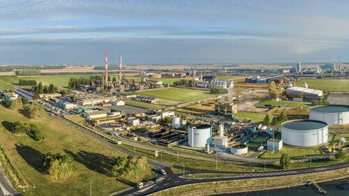 View of the site in Grandpuits, France where Total Corbion PLA intends to build its second Luminy PLA plant with a capacity ramping up to 100,000 tons per annum.